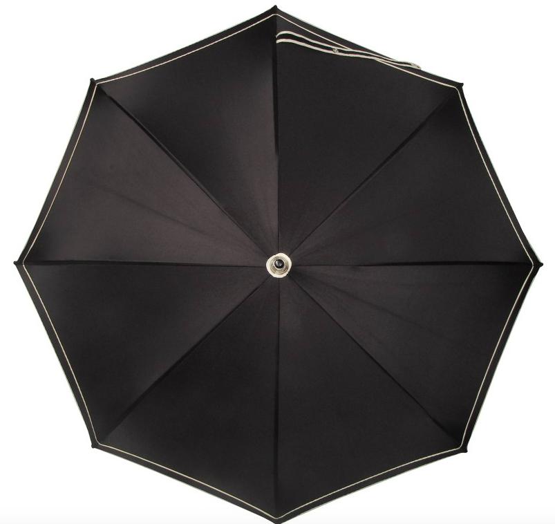 Doppler Swarovski Regenschirm, schwarz