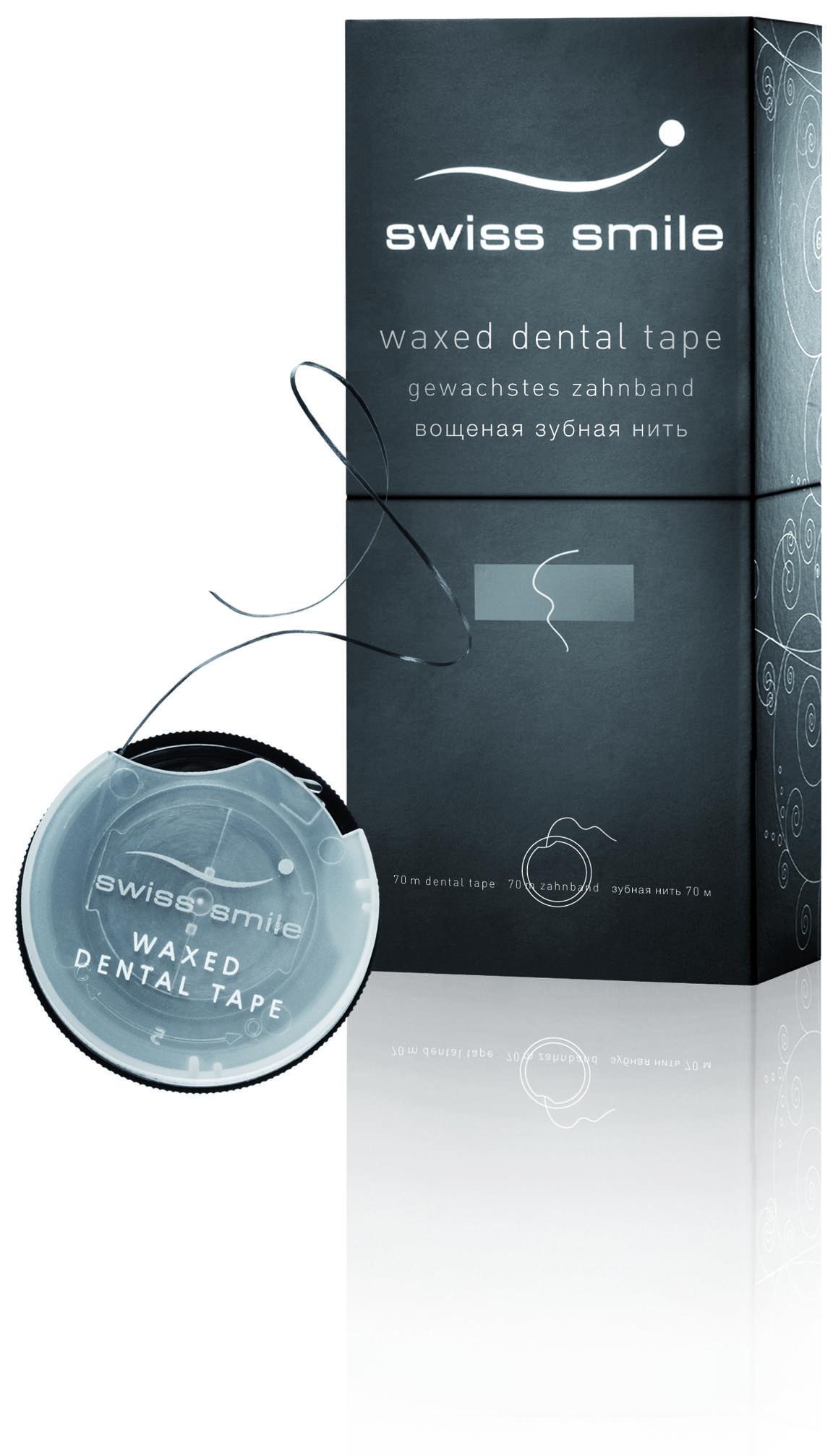 Swiss Smile Minziges gewachstes Zahnband, 70m